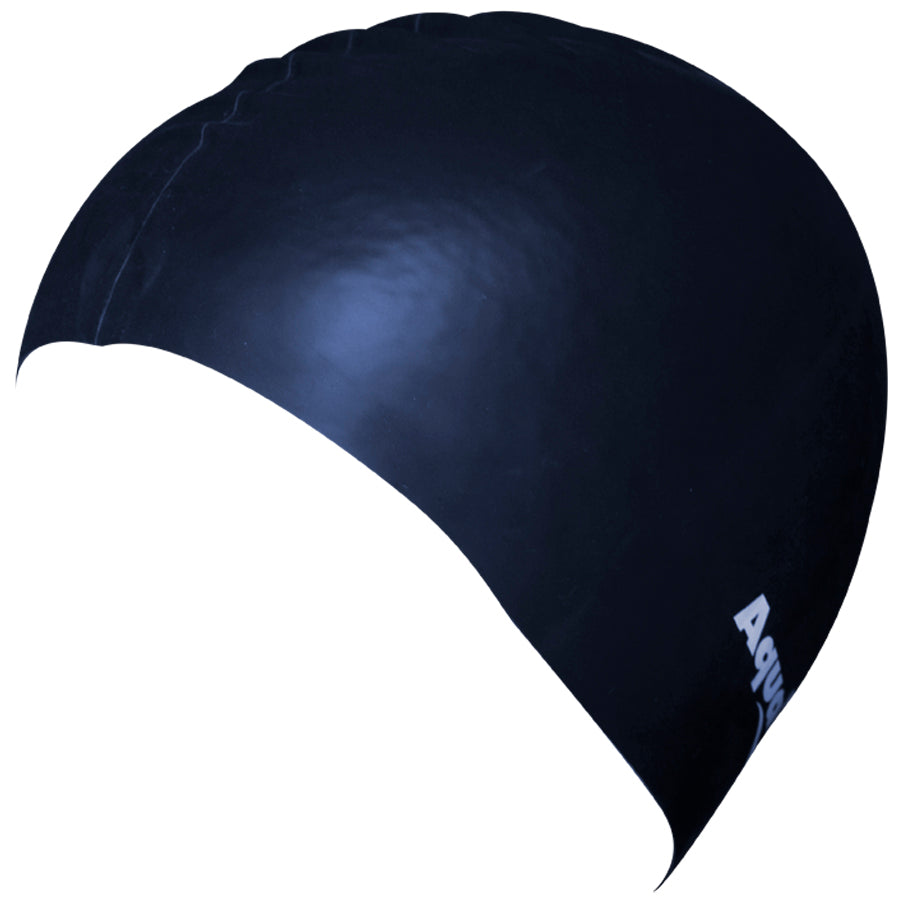 Aqualine Silicone Swimming Cap Navy Blue
