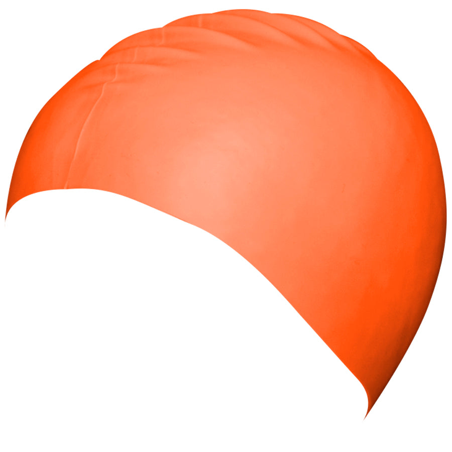 Aqualine Silicone Swimming Cap Orange