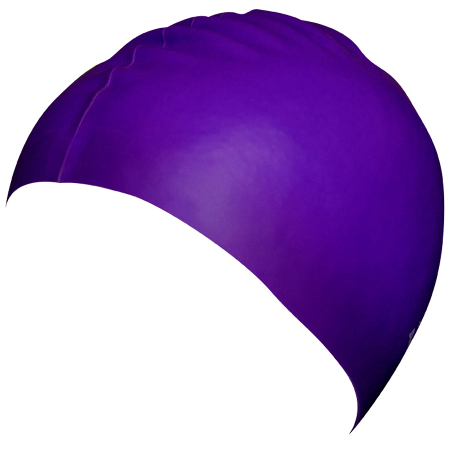 Aqualine Silicone Swimming Cap Purple