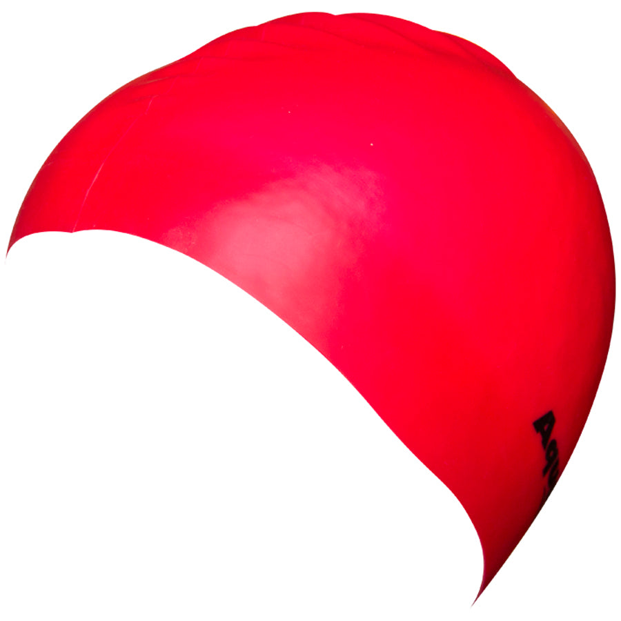 Aqualine Silicone Swimming Cap Red