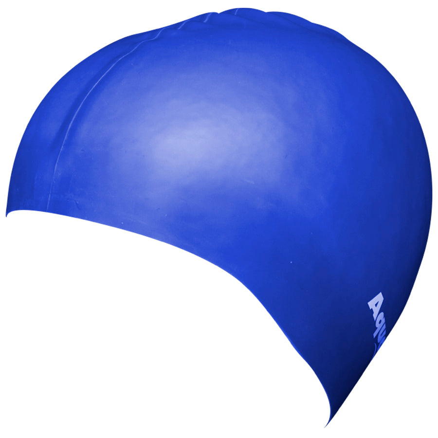 Aqualine Silicone Swimming Cap Royal Blue