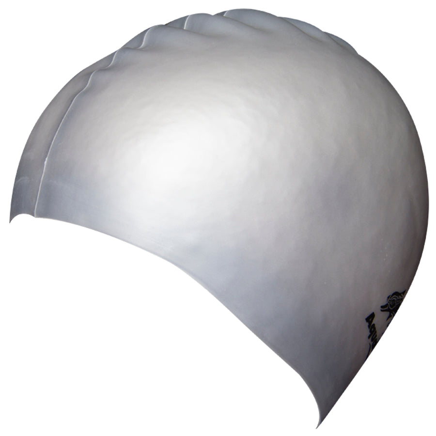 Aqualine Silicone Swimming Cap Silver
