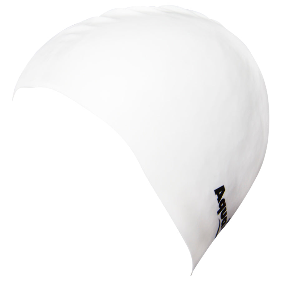 Aqualine Silicone Swimming Cap White