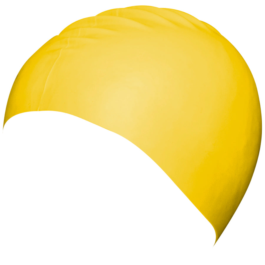 Aqualine Silicone Swimming Cap Yellow