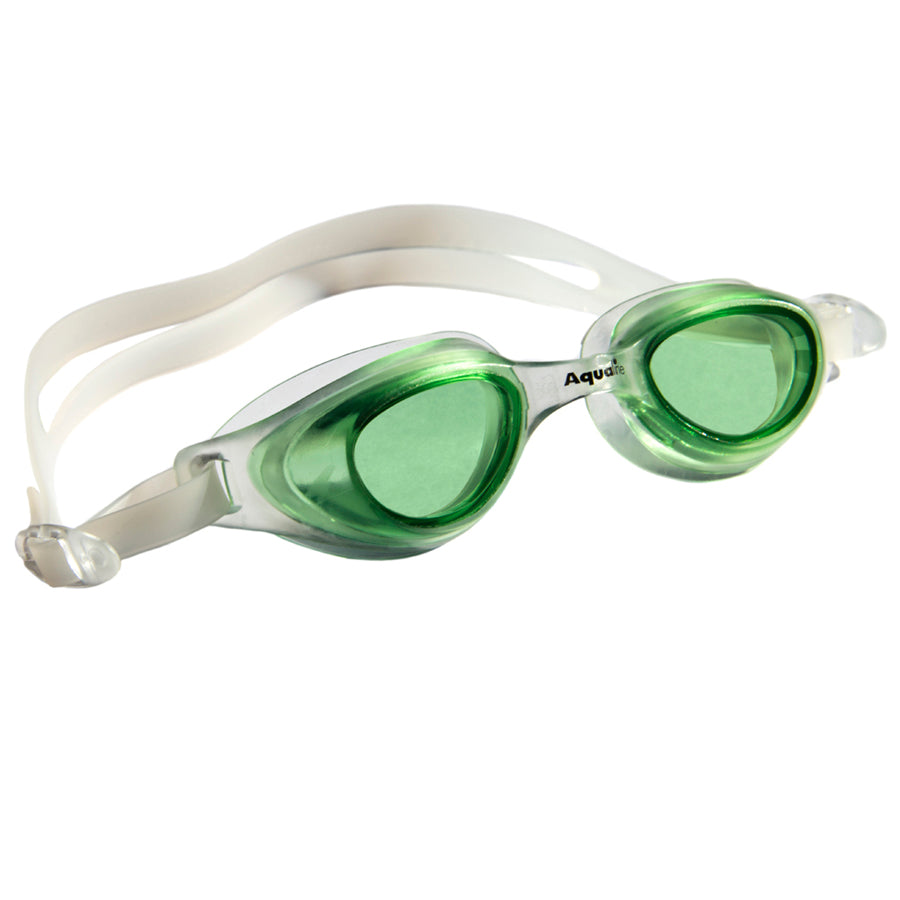 Aqualine Spratz Childrens Goggle Clear frame and strap with greenlens
