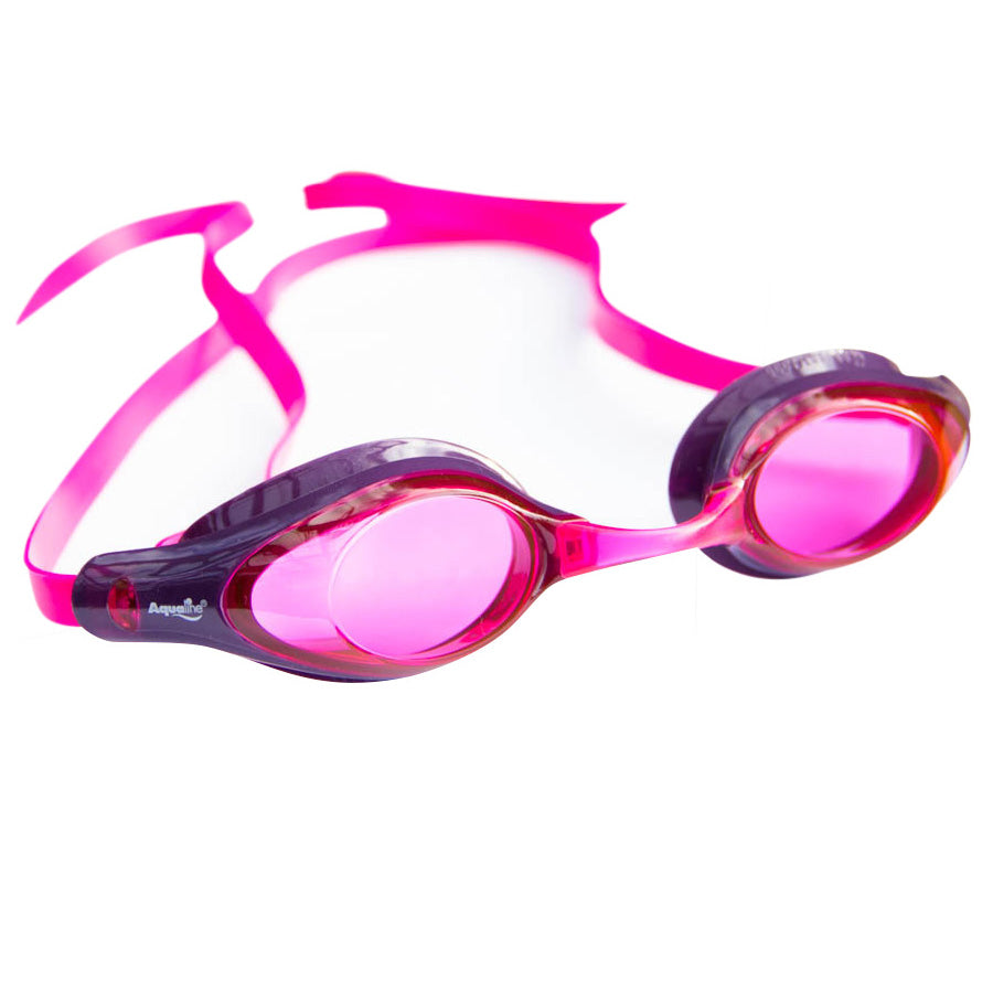 Aqualine Tribute Performance Swimming Goggle Pink and Purple