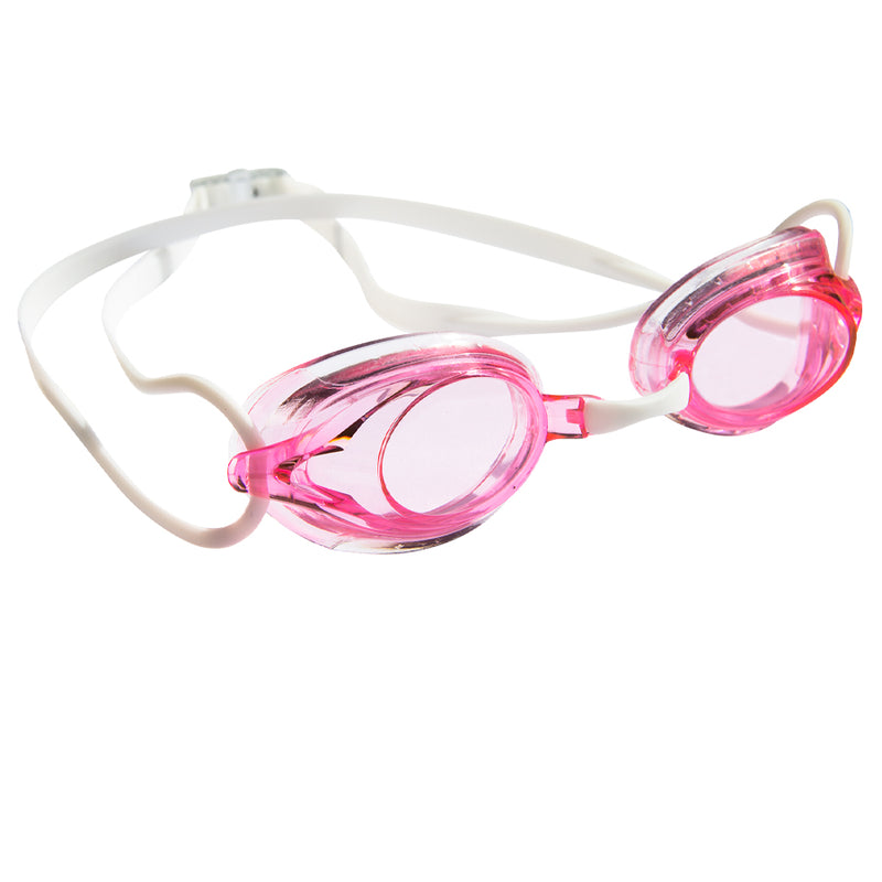 Aqualine Wahoo Childrens Performance GogglePink Lens and White Strap.