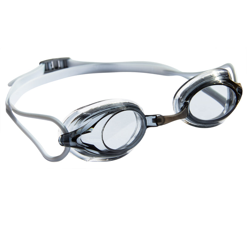 Aqualine Wahoo Childrens Performance Goggle Smoke Lens and White Strap.