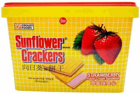 Sunflower Crackers Strawberry 800g