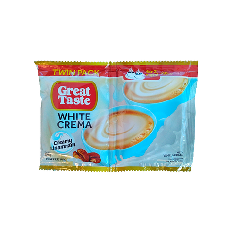 Great Taste White Twin Crema Vanilla 52g