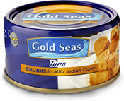 Gold Seas Tuna Chunks in Mild Indian Curry 185g