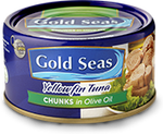 Gold Seas Yellowfin Tuna Chunks in Olive Oil 185g