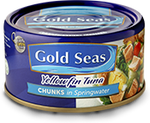 Gold Seas Yellowfin Tuna Chunks in Springwater 185g