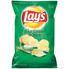Lay's Sour Cream & Onion Flavored Potato Chips 6.5 oz.