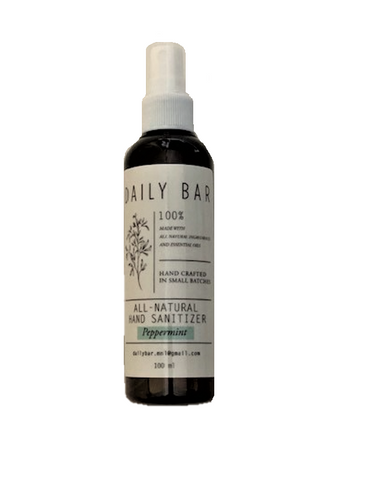 All Natural Hand Sanitizer Spray (Peppermint) 100ml