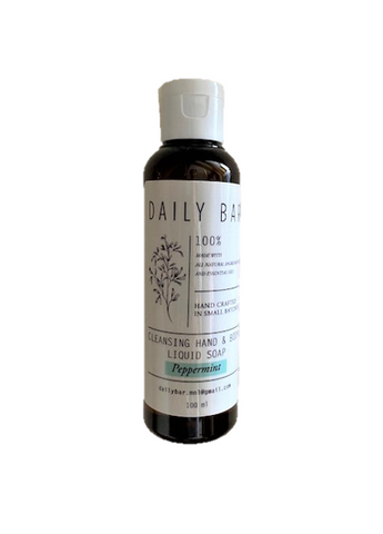 Cleansing Hand & Body Liquid Soap (Peppermint) 100ml