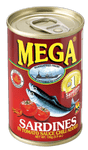 Mega Sardines Hot Easy Open 155g