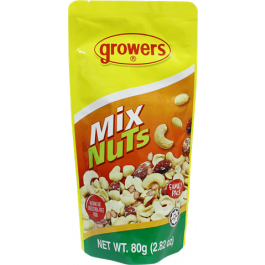 Growers Mixed Nuts 80g