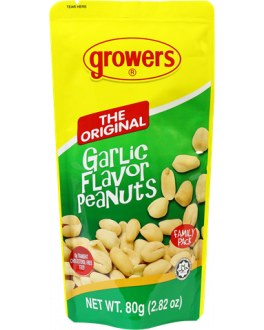 Growers Garlic Peanuts 80g