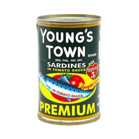 Young's Town Sardines Green 155g