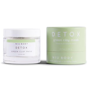 Shop Detox Green Clay Face Mask by Niu Body - Let's make it a trend #explorebeautiful skincare masks
