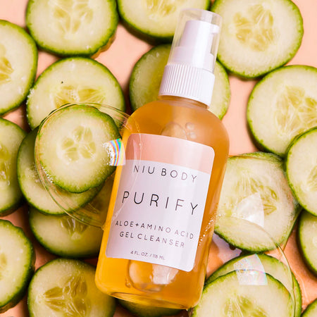 Shop Purify Aloe & Amino Acid Gel Skincare Cleanser by Niu Body - Let's make it a trend #explorebeautiful skincare cleansers