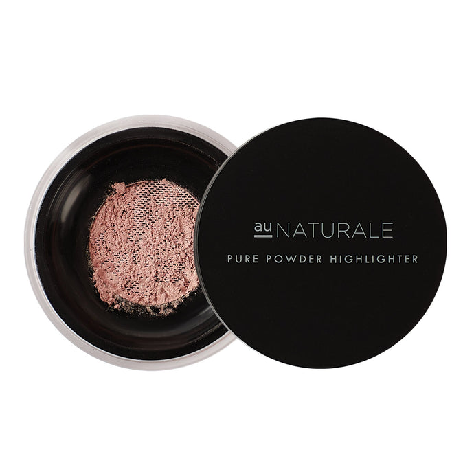 Shop Pure Powder Highlighter in Begonia by Au Naturale Cosmetics - Lets make it a trend #explorebeautiful face and makeup highlighters