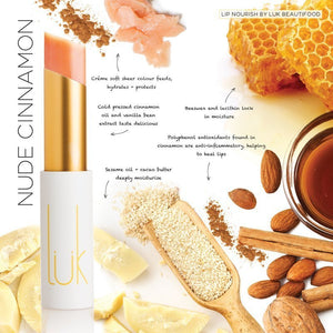 Shop Lip Nourish Nude Cinnamon Lipstick by luk beautifood - Let's make it a trend #explorebeautiful lipstick
