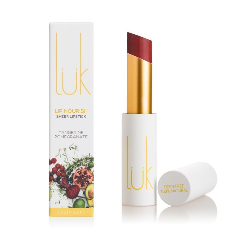 Shop Lip Nourish Tangerine Pomegranate Lipstick by luk beautifood - Let's make it a trend #explorebeautiful lipstick