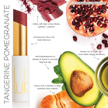 Load image into Gallery viewer, Shop Lip Nourish Tangerine Pomegranate Lipstick by luk beautifood - Let's make it a trend #explorebeautiful lipstick
