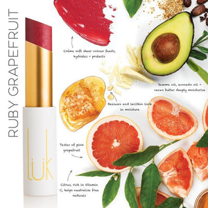 Shop Lip Nourish Ruby Grapefruit Lipstick by luk beautifood - Let's make it a trend #explorebeautiful lipstick
