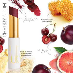 Shop Lip Nourish Cherry Plum Lipstick by luk beautifood - Let's make it a trend #explorebeautiful lipstick