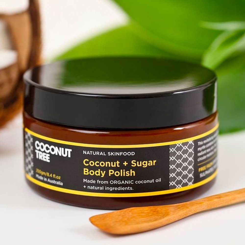 Shop Coconut & Sugar Body Polish Skincare by Coconut Tree - Let's make it a trend #explorebeautiful haircare scrubs