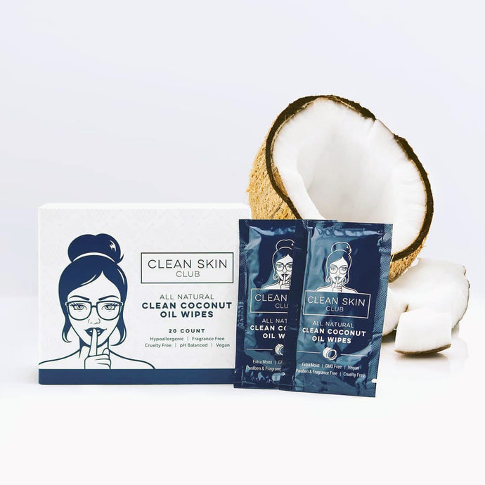 Shop Coconut Oil Wipes by Clean Skin Club - Let's make it a trend #explorebeautiful skincare