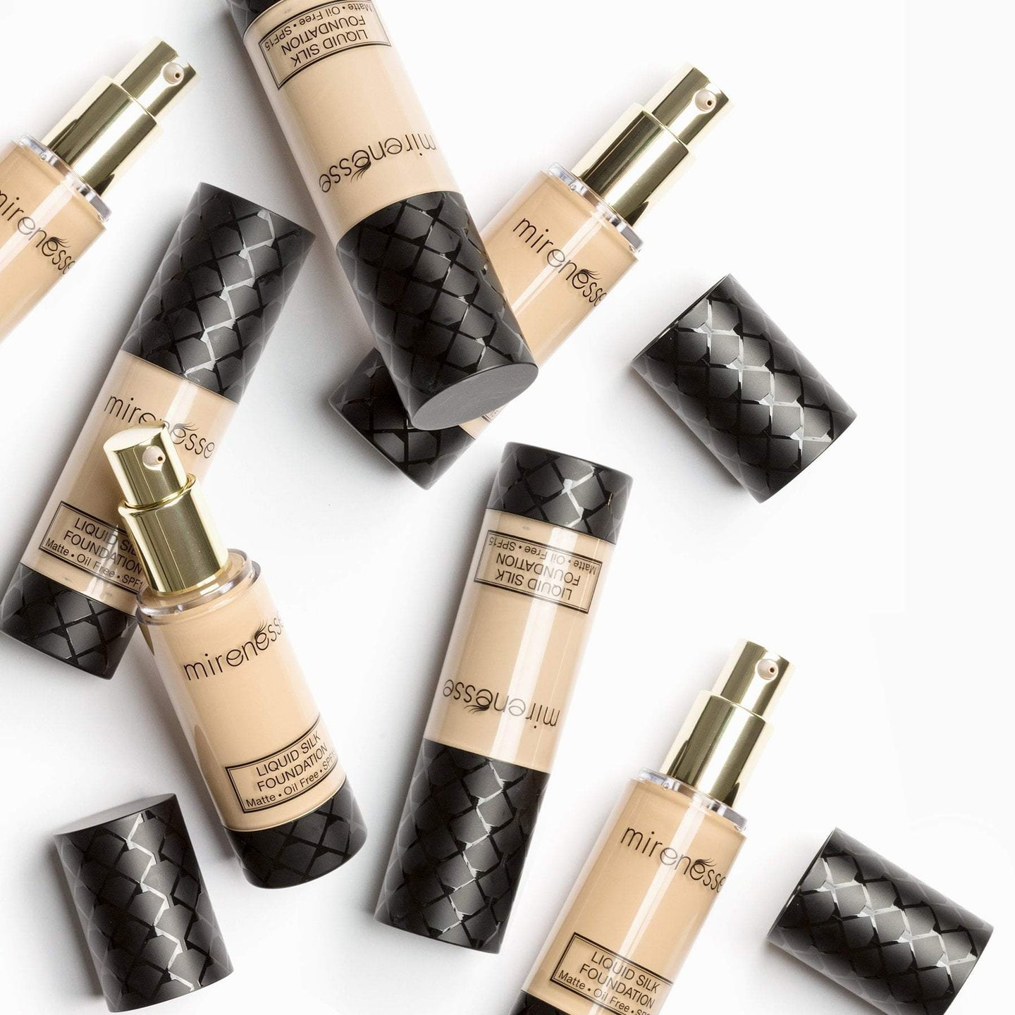 Shop Vanilla Liquid Silk Oil Free Matte Long Wear Makeup Foundation by Mirenesse - Let's make it a trend #explorebeautiful face foundations