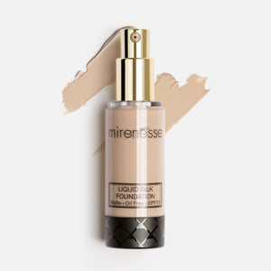 Shop Vienna Liquid Silk Oil Free Matte Long Wear Makeup Foundation by Mirenesse - Let's make it a trend #explorebeautiful face foundations