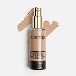 Shop Bronze Liquid Silk Oil Free Matte Long Wear Makeup Foundation by Mirenesse - Let's make it a trend #explorebeautiful face foundations
