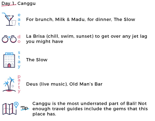 Canggu | Milk & Madu, The Slow, La Brisa