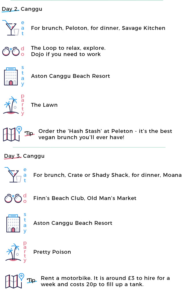 Canggu | Peloton, savage kitchen, dojo, shady shack, moana