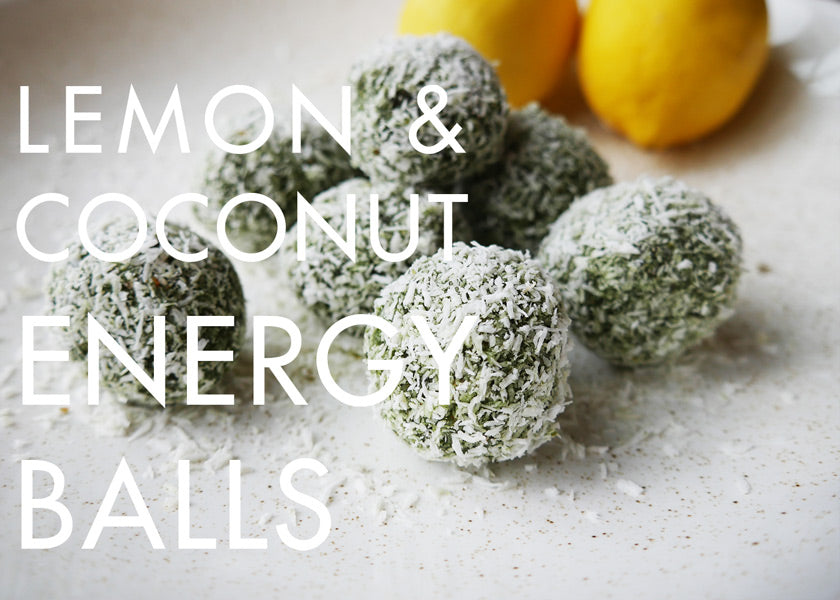 Lemon and coconut energy ball recipe