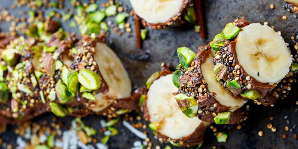 Pistachio Banana Sushi Good Sweets To Eat While On Diet