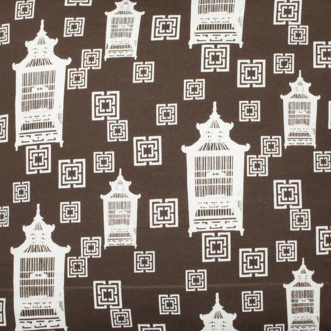 Birdcage Toile - Brown Fabric Swatch