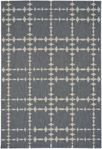 Finesse Tower Court Rug - Charcoal