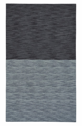 color block rug grey black