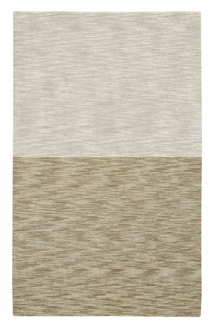 Coco's Color Block Rug -Cream/Mushroom