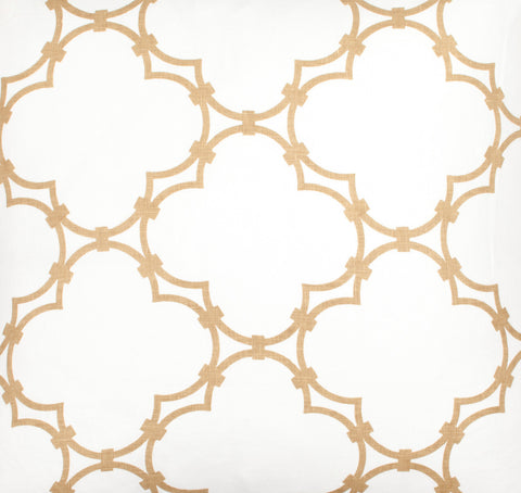 Quatrefoil - Tan Fabric Swatch