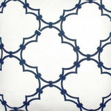 Quatrefoil - Navy Fabric Swatch