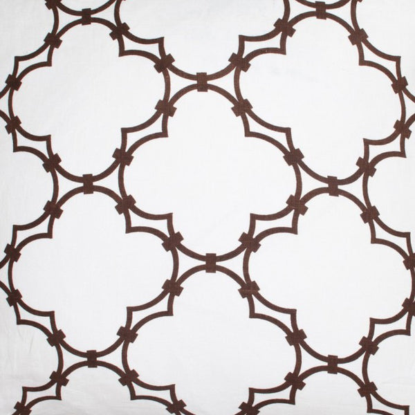Quatrefoil - Brown Fabric Swatch
