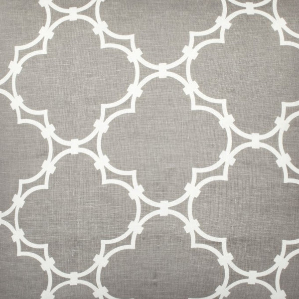 Quatrefoil - Grey Reverse Fabric Swatch