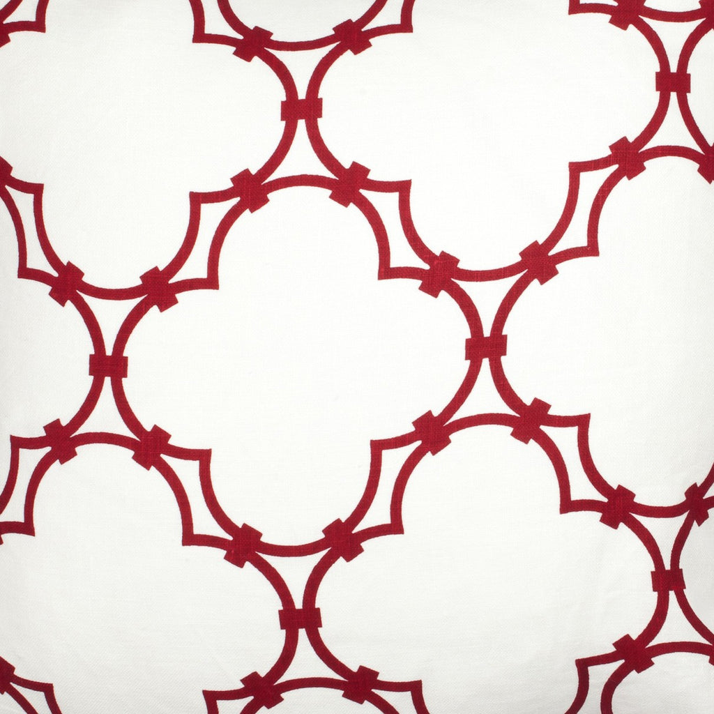Quatrefoil - Dark Red Fabric Swatch